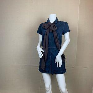 Rag and Bone romper navy cotton jumpsuit
